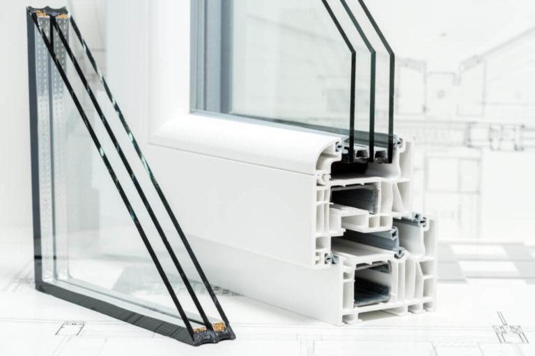 Kunststofffenster Dreifachverglasung Material